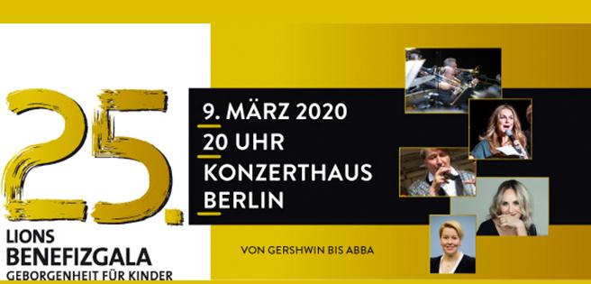 """Berlin: """"Von Gershwin bis ABBA"""", die 25. Lions Benefizgala im Konzerthaus Berlin"""