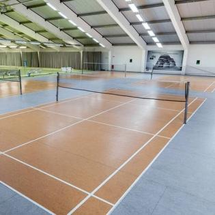 Badminton und Sauna
