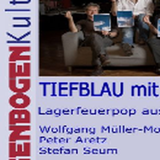 """""""Tiefblau mit Wolken Band"""""""