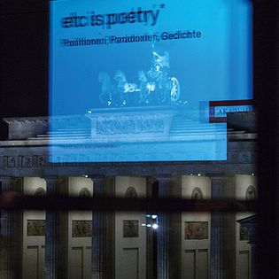 etc is poetry. Poesie, Poetik, Positionen