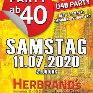 PARTY AB40 - Kölns größte Ü40 Party!