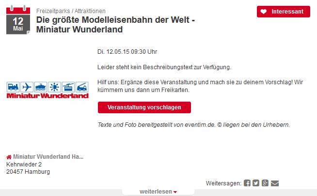 Änderungen im Angebot - Hilfe | TwoTickets.de